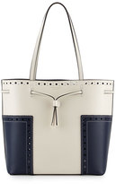 Tory Burch Block-T Brogue Drawstring Tote Bag