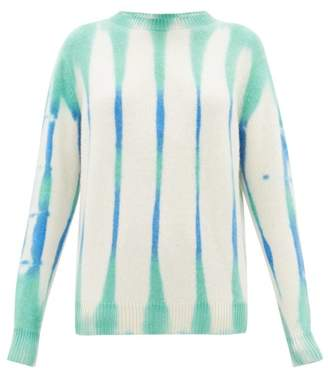 The Elder Statesman Tie-dye Cashmere Sweater - Womens - Ivory Multi