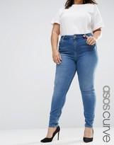 Asos Lisbon Midrise Skinny Jeans In Jessie Darkwash
