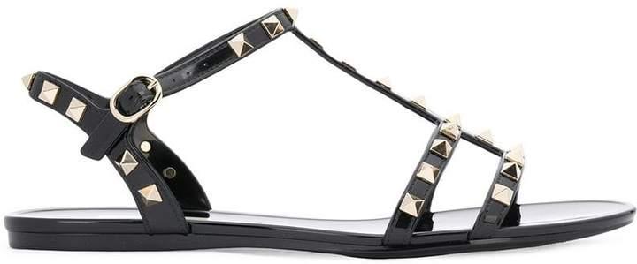 Valentino almond toe rockstud sandals