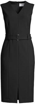 HUGO BOSS Dadorina Belted Ponte Stretch Dress