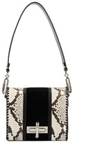 Amanda Wakeley Costello Black Stripe Twist Lock Bag