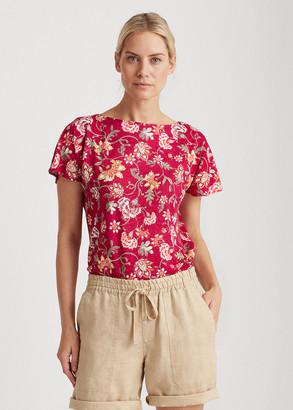 Ralph Lauren Floral Flutter-Sleeve Tee