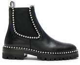Alexander Wang Spencer Leather Boots in Black.