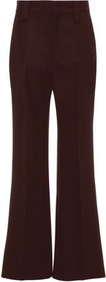 Prada High-Rise Wide-Leg Mohair Wool Pants