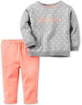 Carter's Baby Girls' 2-Pc. Intarsia Dream Sweater & Leggings Set