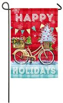 "Evergreen Happy Holidays"" Indoor / Outdoor Christmas Garden Flag"