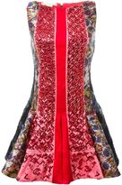 Antonio Berardi beaded paneled printed dress