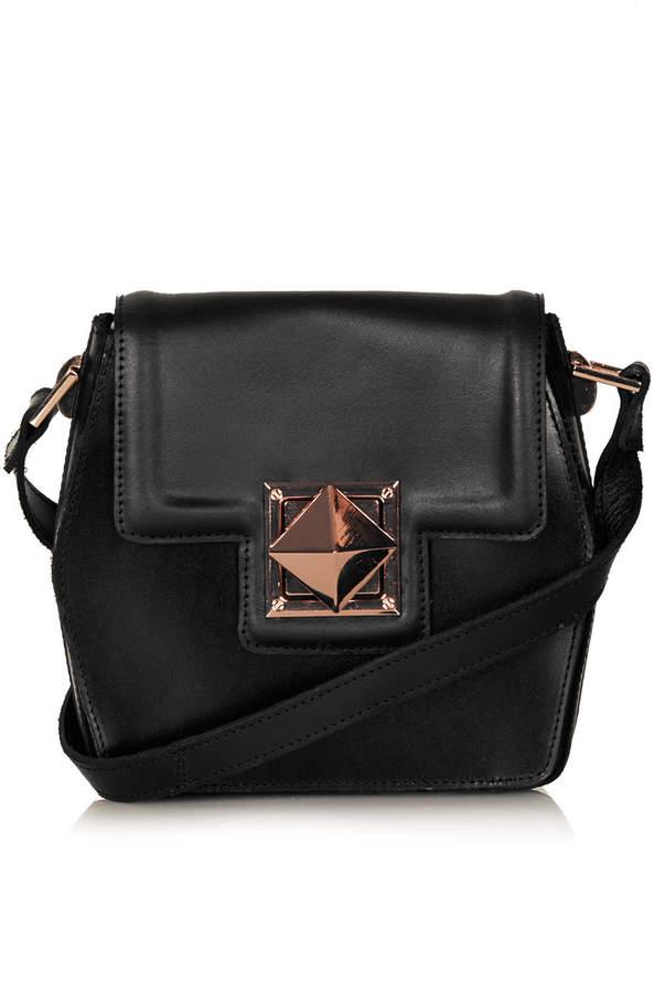 Topshop Hex leather crossbody bag