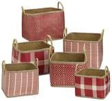 Element Palm Leaf 6-piece Woven Basket Set