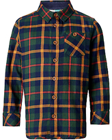 John Lewis Boys' Double Navy Twill Check Shirt