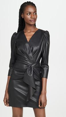 Rebecca Taylor Long Sleeve Vegan Leather Dress