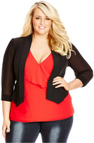 City Chic Trendy Plus Size Open-Front Blazer