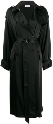 RED Valentino Double-Breasted Belted Trench