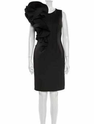 Jovani Crew Neck Knee-Length Dress Black