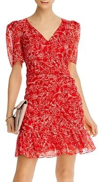Parker Krislyn Silk Printed Ruched Mini Dress