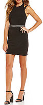 Jodi Kristopher Cut-Out Shoulders Waist Trim Sheath Dress