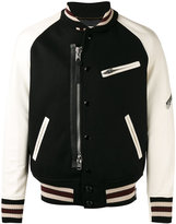 Coach panelled bomber jacket - men - Lamb Skin/Nylon/Polyester/Wool - 52
