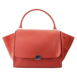 Celine Trio Orange Leather Handbags