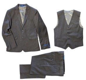 Perry Ellis Big Boys Slim Fit 3-Piece All Occasion Suits