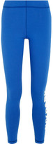 Ivy Park Printed Stretch-jersey Leggings - Bright blue