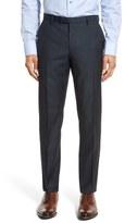 BOSS Men's 'Leenon' Flat Front Solid Wool Trousers