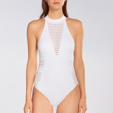 Jets Parallels High Neck Sheer Stripe One Piece