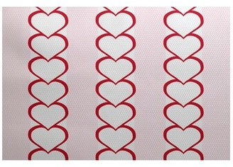 The Holiday Aisle Valentine's Day Handwoven Red Rug Rug Size: Rectangle 2' x 3'