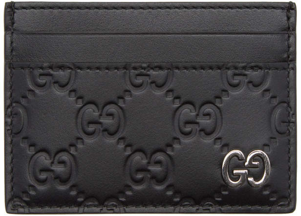 Gucci Black Signature Card Holder