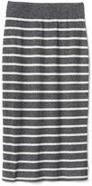 Gap Stripe ribbed midi skirt