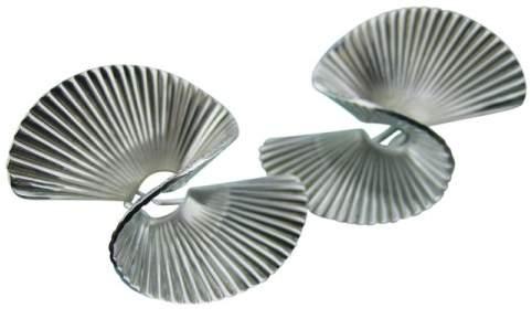 Tiffany & Co. 925 Sterling Silver Fan Swirl Twirl Earrings