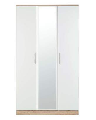 Marisota Leo Gloss 3 Door Mirrored Wardrobe