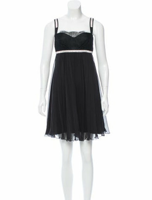 Dolce & Gabbana Embellished Silk Dress Black