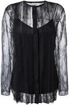 Nina Ricci striped lace blouse