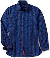 Visconti Big & Tall Stripe Camo Long-Sleeve Woven Shirt