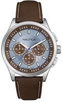 Nautica Gents Watch Chronograph XL Leather A16694G Quartz