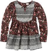 Arizona Long-Sleeve Woven Boho Peplum Top - Preschool Girls 4-6x