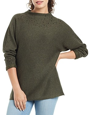 Nic+Zoe Petites Shine For Me Embellished Sweater