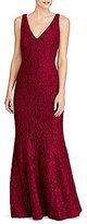 Lauren Ralph Lauren Lace V-Neck Gown