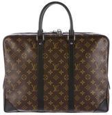 Louis Vuitton Monogam Macassar Porte-Documents Voyage