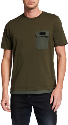 Diesel Men's T-Armi Double-Layer Pocket T-Shirt