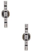 Ileana Makri Thread Baguette Stud Earrings in Metallics.