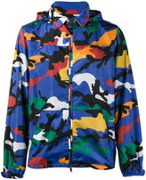 Valentino camouflage print hooded jacket