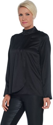 Brooke Shields Timeless BROOKE SHIELDS Timeless Woven Blouse with Pleat Front Detail
