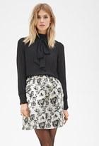 Forever 21 FOREVER 21+ Contemporary Metallic A-Line Skirt
