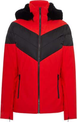 Fusalp Faux Fur-Trimmed Striped Shell Ski Jacket