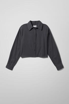 Weekday Gwen Flannel Shirt - Blue