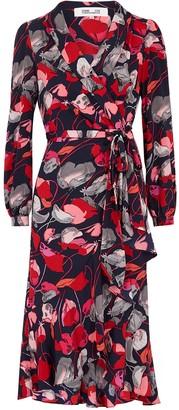 Diane von Furstenberg Carla floral-print silk wrap dress