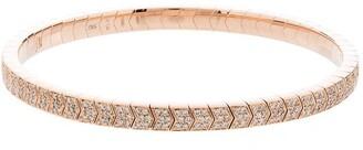 Jacquie Aiche 14kt Rose Gold Diamond Chevron Bracelet