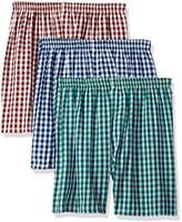 Munsingwear Men's 3 Pack Cotton Woven Assorted Boxers